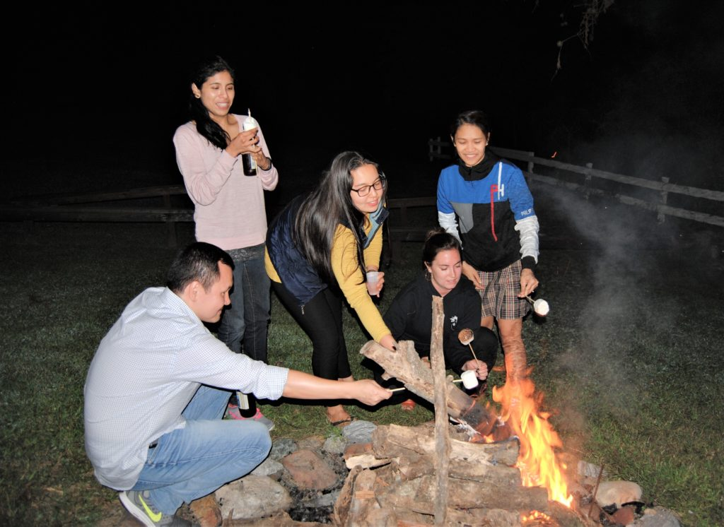 GHD Students Toasting Marshmellos
